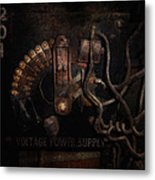 Steampunk - Electrical - Rotary Switch Metal Print by Mike Savad
