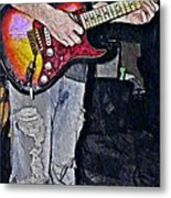 Strat Man  Metal Print by Chris Berry