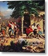 Sunday Morning In The Mines Metal Print by Charles Nahl