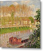 Sunset At Moret Sur Loing Metal Print by Camille Pissarro