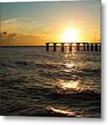 Sunset Over Boca Grande Florida Metal Print by Fizzy Image