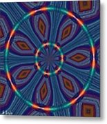 Tangerine And Turquoise Dream Metal Print by Alec Drake