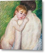 The Bare Back Metal Print by Mary Cassatt Stevenson