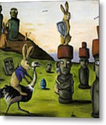 The Battle Over Easter Island Metal Print by Leah Saulnier The Painting Maniac
