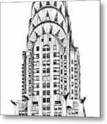 The Chrysler Building Metal Print by Luciano Mortula