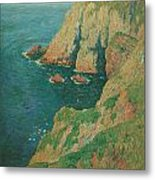 The Cliffs Of Stang Ile De Croix Metal Print by Henry Moret