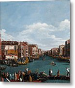 The Grand Canal At Venice Metal Print by Antonio Canaletto