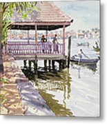 The Jetty Cochin Metal Print by Lucy Willis