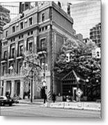 the vancouver club building west hastings street heritage district Vancouver BC Canada Metal Print by Joe Fox