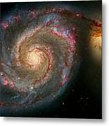 The Whirlpool Galaxy M51 And Companion Metal Print by Don Hammond