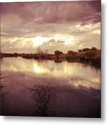 Through The Clouds Metal Print by George Lenz