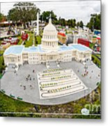 United States Capital Building At Legoland Metal Print by Edward Fielding
