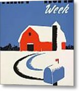 University Of Illnois Farm And Home Week Metal Print by American Classic Art