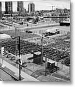 urban farm on unused lot at concord pacific place at false creek Vancouver BC Canada Metal Print by Joe Fox