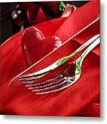 Valentine's Day Dinner Metal Print by Mythja  Photography