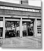 Vancouver Fire Rescue Services Hall 2 In Downtown Eastside Bc Canada Metal Print by Joe Fox