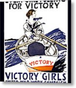 Victory Girls Of W W 1     1918 Metal Print by Daniel Hagerman