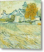 View Of Asylum And Saint-remy Chapel Metal Print by Vincent van Gogh