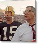 Vince Lombardi With Bart Starr Metal Print by Retro Images Archive