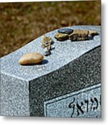 Visitation Stones On Jewish Grave Metal Print by Amy Cicconi