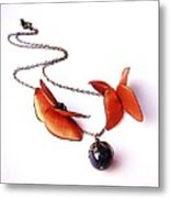 Wearable Art . Never Ending Love . One Of A Kind Necklace Metal Print by Marianna Mills