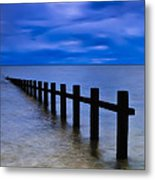 Welsh Seascape Metal Print by Adrian Evans