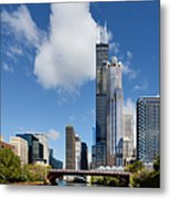 Willis Tower And 311 South Wacker Drive Chicago Metal Print by Christine Till