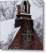 Winter In Dixie Metal Print by Vicki Tinnon