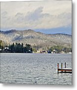 Winter On The Lake Metal Print by Susan Leggett