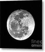 Wolf Moon Waning Metal Print by Al Powell Photography USA