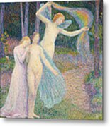 Women Amongst The Trees Metal Print by Hippolyte Petitjean