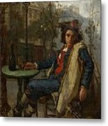 Young Italian Street Musician Metal Print by Thomas Couture