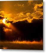 Zero Degree Steam Metal Print by Phil Koch