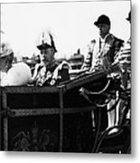 British Royal Family. In Coach British Metal Print by Everett