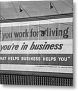 Corporate Resistance To Fdrs New Deal Metal Print by Everett