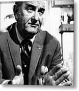 Former President Lyndon Johnson Metal Print by Everett