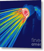 Thermogram Of A Shower Head Metal Print by Ted Kinsman