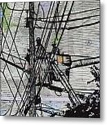 Working On Lines Metal Print by William Cauthern