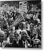 1963 March On Washington. Close-up Metal Print by Everett
