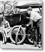 Silent Film: Automobiles Metal Print by Granger
