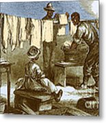 Slaves In Union Camp Metal Print by Photo Researchers