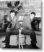 Silent Still: Two Men Metal Print by Granger