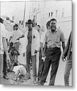 African Americans Shout Obscenities Metal Print by Everett