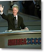 Bill Clinton, Touched By Emotion Metal Print by Everett