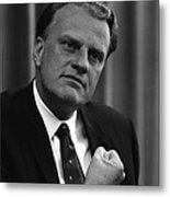 Billy Graham Was A Prominent Christian Metal Print by Everett