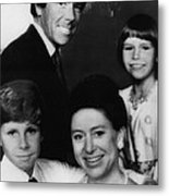 British Royal Family. Front, From Left Metal Print by Everett