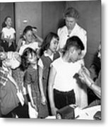 Children Inoculated Against Diphtheria Metal Print by Everett