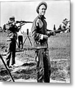 Franklin Roosevelt On A Rifle Range Metal Print by Everett