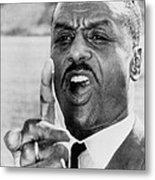 Fred Shuttlesworth, Points A Finger Metal Print by Everett