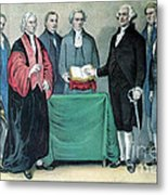 Inauguration Of George Washington, 1789 Metal Print by Photo Researchers